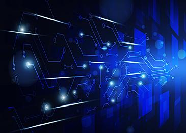 circuit technology flash light lines glow