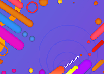 geometric abstract colorful background round lines