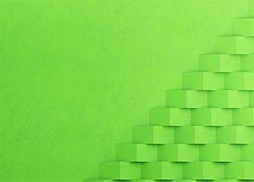 green paper cut abstract card paper background