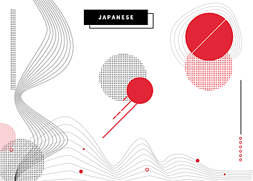 japanese style abstract line background