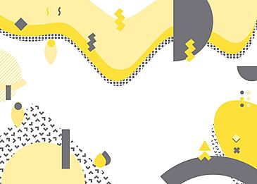 light yellow gray geometric memphis effect