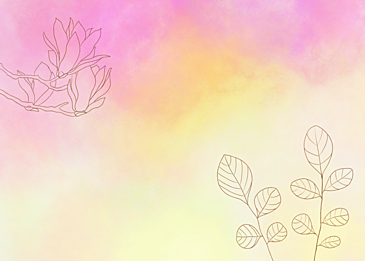 magnolia flower leaf vein watercolor background