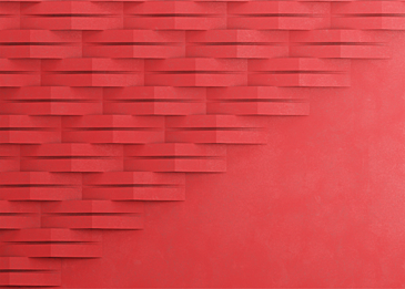 red abstract paper cut style background