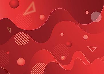 red wave sphere spherical geometric figure geometry
