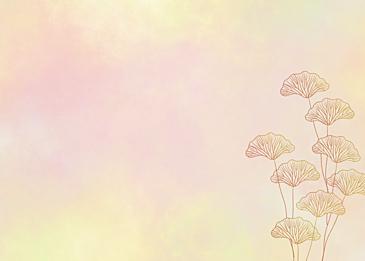 watercolor ginkgo leaf veins background
