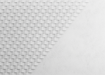white cardboard paper cut abstract background