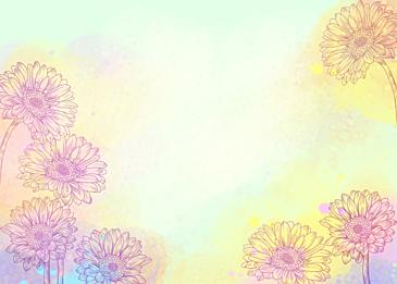 watercolor flowers gerbera flowers