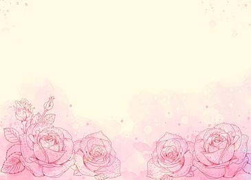 watercolor flowers roses leaf veins