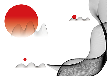 japanese style abstract curve background