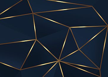 abstract irregular blue black gold rim geometric business background