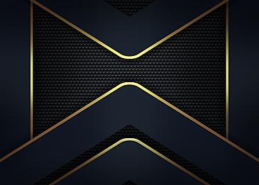 black blue gold rim geometric modern business gradient abstract background