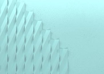 cyan checkered 3d paper cut background