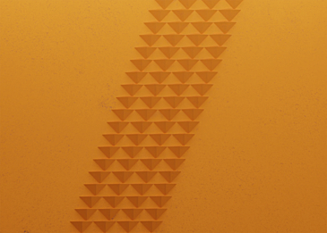 orange 3d triangle paper cut background