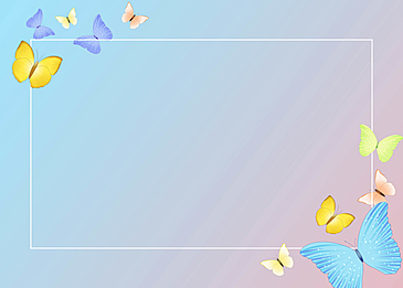 blue butterfly beautiful blue pink gradient border background