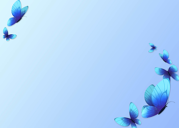 blue butterfly light blue gradient simple border background