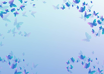 blue purple butterfly gradient beautiful border background