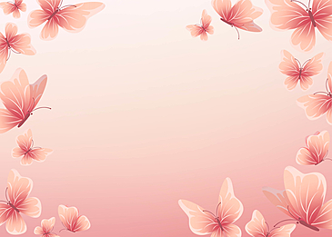 butterfly pink gradient simple border background