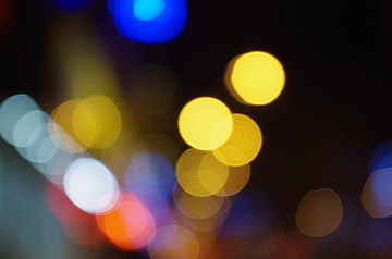 night lights out of focus photography