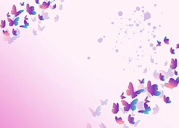 purple butterfly simple purple gradient border background