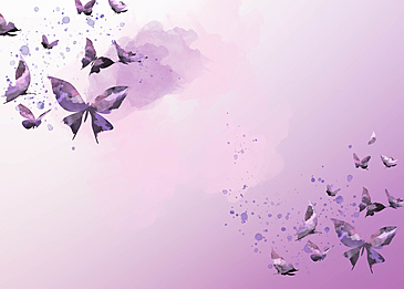 purple watercolor ink butterfly gradient border background