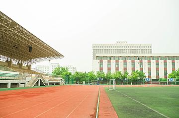 school football field and running track