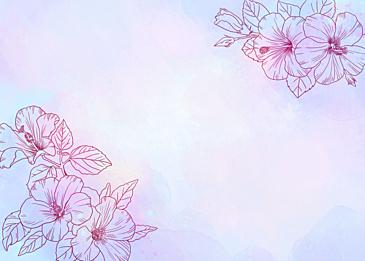 watercolor hibiscus flower leaf veins