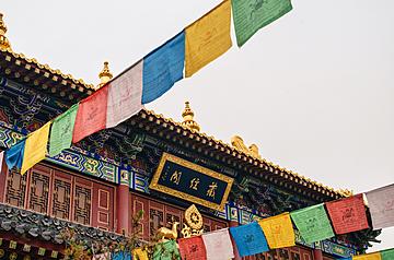 xian guangren temple tibetan scripture pavilion