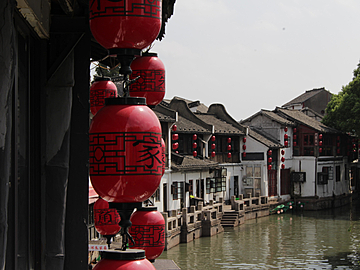 xitang ancient town in jiaxing in the sun