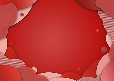 abstract red irregular gradient paper cut background