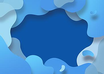 blue abstract irregular gradient paper cut background