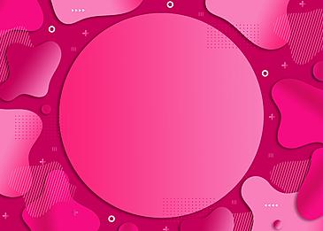 creative geometric decoration irregular paper cut pink gradient background