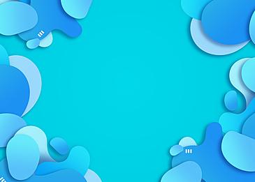 creative irregular paper cut blue gradient border background