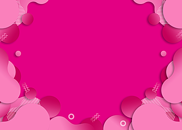 geometric decoration pink irregular paper cut gradient background