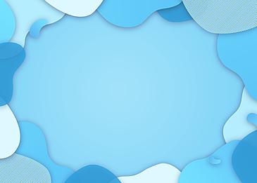 gradient blue abstract irregular paper cut background