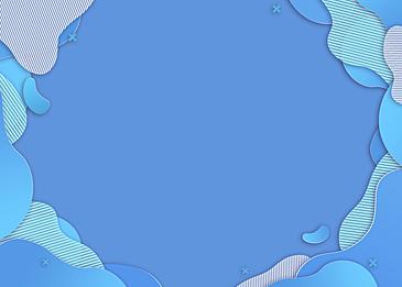 gradient blue irregular paper cut background