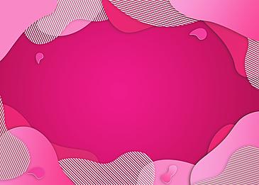 irregular pink texture paper cut gradient background