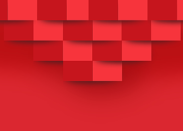 red abstract paper cut 3d background