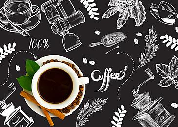 coffee bean line draft exquisite coffee