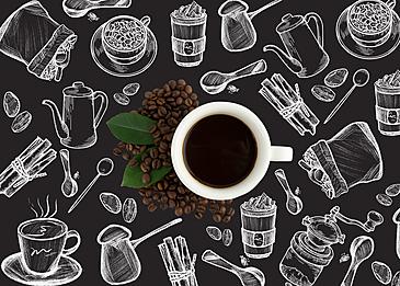 exquisite line art coffee
