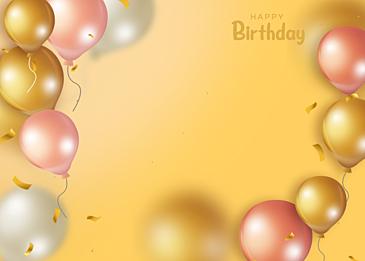golden gradient balloon three dimensional
