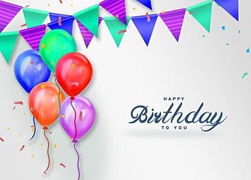 gradient balloon texture three dimensional birthday