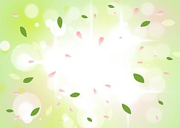 green gradient spring petal background
