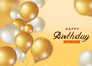 textured golden gradient balloon birthday