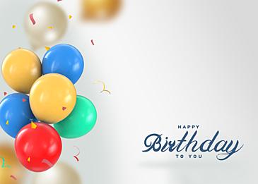 balloon birthday three dimensional gradient