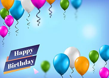 birthday balloon gradient blue