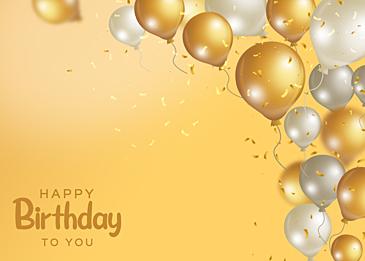 birthday balloon gradient yellow