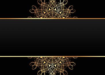 black gold gradient mandala pattern background