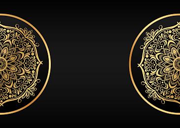 black gold mandala classical pattern background