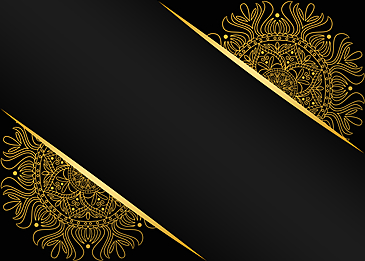 black gold mandala line drawing printing background