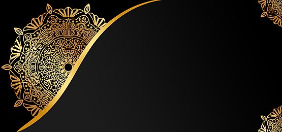 black gold mandala mysterious art background